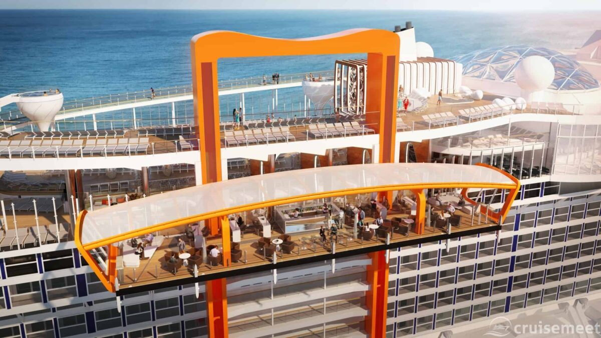 Celebrity Cruises - Celebrity Edge preview March - Magic Carpet Resort Deck